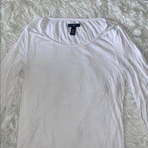 Gap Long Sleeve Basic White Shirt